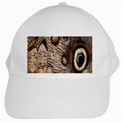 Butterfly Wing Detail White Cap
