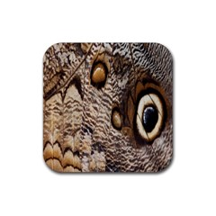 Butterfly Wing Detail Rubber Square Coaster (4 pack)