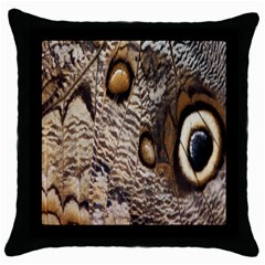 Butterfly Wing Detail Throw Pillow Case (Black)