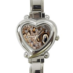 Butterfly Wing Detail Heart Italian Charm Watch