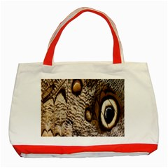 Butterfly Wing Detail Classic Tote Bag (red)