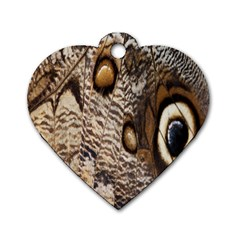 Butterfly Wing Detail Dog Tag Heart (two Sides)