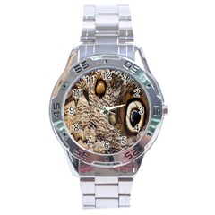 Butterfly Wing Detail Stainless Steel Analogue Watch
