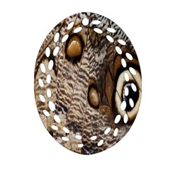 Butterfly Wing Detail Oval Filigree Ornament (Two Sides)
