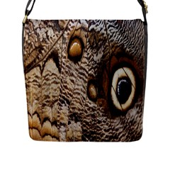 Butterfly Wing Detail Flap Messenger Bag (l)