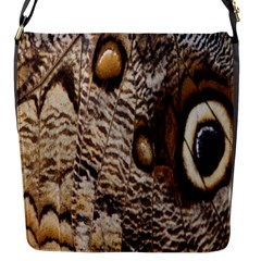 Butterfly Wing Detail Flap Messenger Bag (S)