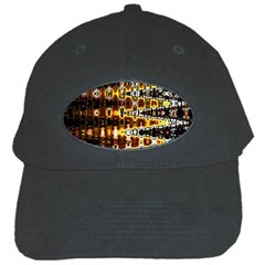 Bright Yellow And Black Abstract Black Cap
