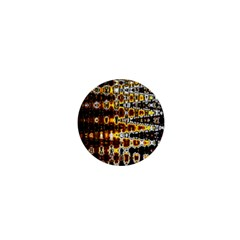 Bright Yellow And Black Abstract 1  Mini Buttons