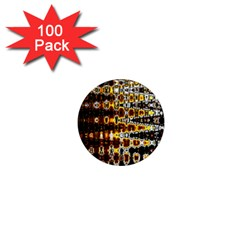 Bright Yellow And Black Abstract 1  Mini Magnets (100 pack)