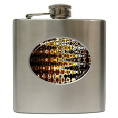Bright Yellow And Black Abstract Hip Flask (6 Oz)