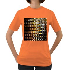 Bright Yellow And Black Abstract Women s Dark T Shirt