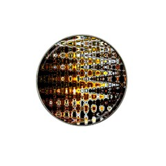 Bright Yellow And Black Abstract Hat Clip Ball Marker (4 pack)