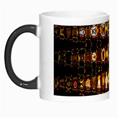 Bright Yellow And Black Abstract Morph Mugs