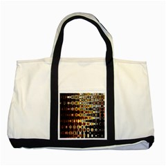 Bright Yellow And Black Abstract Two Tone Tote Bag