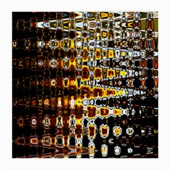 Bright Yellow And Black Abstract Medium Glasses Cloth (2-Side)