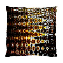 Bright Yellow And Black Abstract Standard Cushion Case (Two Sides)