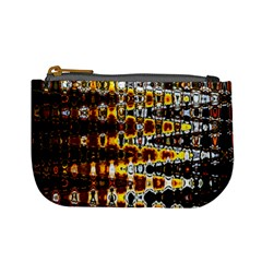 Bright Yellow And Black Abstract Mini Coin Purses