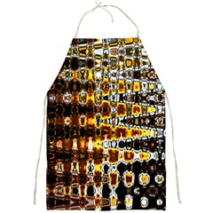 Bright Yellow And Black Abstract Full Print Aprons