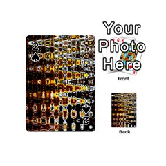 Bright Yellow And Black Abstract Playing Cards 54 (mini)