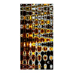 Bright Yellow And Black Abstract Shower Curtain 36  x 72  (Stall)