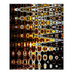 Bright Yellow And Black Abstract Shower Curtain 60  X 72  (medium)