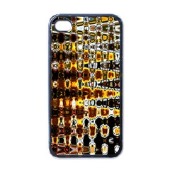 Bright Yellow And Black Abstract Apple Iphone 4 Case (black)