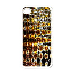 Bright Yellow And Black Abstract Apple iPhone 4 Case (White)