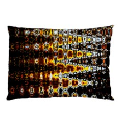 Bright Yellow And Black Abstract Pillow Case (Two Sides)