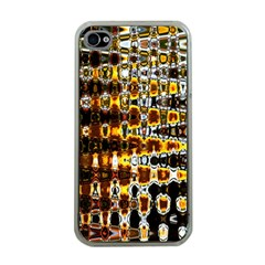 Bright Yellow And Black Abstract Apple Iphone 4 Case (clear)