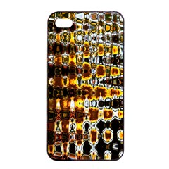 Bright Yellow And Black Abstract Apple iPhone 4/4s Seamless Case (Black)