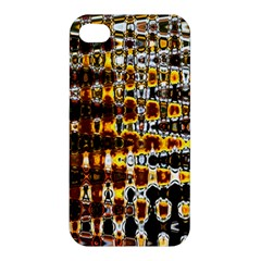 Bright Yellow And Black Abstract Apple Iphone 4/4s Hardshell Case