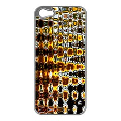 Bright Yellow And Black Abstract Apple iPhone 5 Case (Silver)