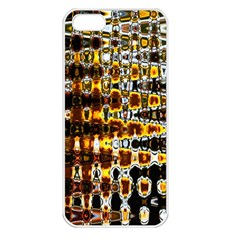 Bright Yellow And Black Abstract Apple iPhone 5 Seamless Case (White)