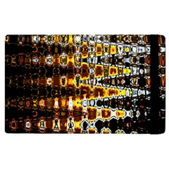 Bright Yellow And Black Abstract Apple iPad 3/4 Flip Case