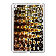 Bright Yellow And Black Abstract Apple iPad Mini Case (White)