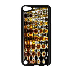 Bright Yellow And Black Abstract Apple Ipod Touch 5 Case (black)