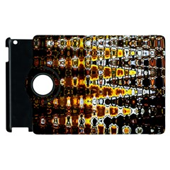 Bright Yellow And Black Abstract Apple iPad 2 Flip 360 Case