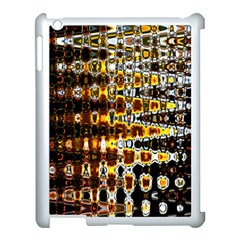 Bright Yellow And Black Abstract Apple iPad 3/4 Case (White)