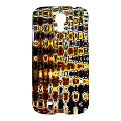 Bright Yellow And Black Abstract Samsung Galaxy S4 I9500/I9505 Hardshell Case