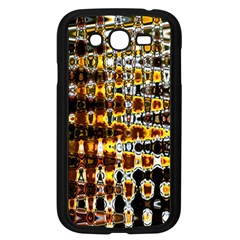 Bright Yellow And Black Abstract Samsung Galaxy Grand DUOS I9082 Case (Black)