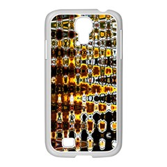 Bright Yellow And Black Abstract Samsung GALAXY S4 I9500/ I9505 Case (White)