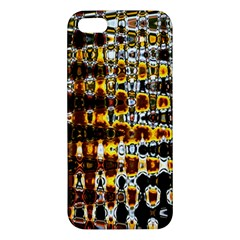 Bright Yellow And Black Abstract Iphone 5s/ Se Premium Hardshell Case