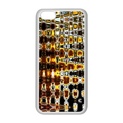 Bright Yellow And Black Abstract Apple iPhone 5C Seamless Case (White)