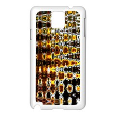 Bright Yellow And Black Abstract Samsung Galaxy Note 3 N9005 Case (white)