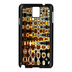 Bright Yellow And Black Abstract Samsung Galaxy Note 3 N9005 Case (Black)