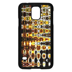 Bright Yellow And Black Abstract Samsung Galaxy S5 Case (Black)