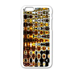 Bright Yellow And Black Abstract Apple Iphone 6/6s White Enamel Case