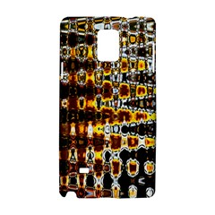 Bright Yellow And Black Abstract Samsung Galaxy Note 4 Hardshell Case