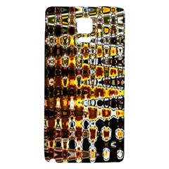 Bright Yellow And Black Abstract Galaxy Note 4 Back Case