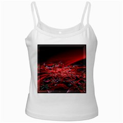 Red Fractal Valley In 3d Glass Frame Ladies Camisoles